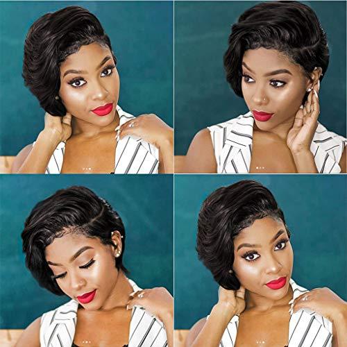 amenMode Synthetische Kurze Afro Lockige Schwarze Perücke für Frauen ()