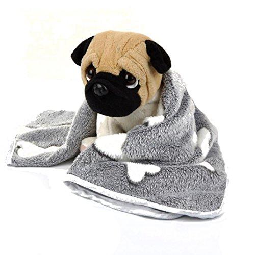 Sannysis Mascotas Perros Accesorios Deportiva para Cama Mascota Perrito, Almohadillas Mascotas Gatos Manta de Descanso Cojín para Mascotas Transpirable Suave y cálido tapete para Dormir (Gris, M)
