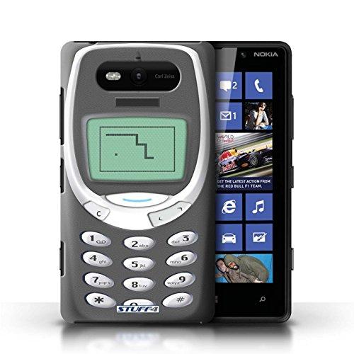 Hülle Case für Nokia Lumia 820 / Schwarzes Nokia 8210 Entwurf / Vintage Handys Collection Graues Nokia 3310