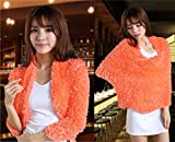 Orange Trendy Women Wrap Charcoal Fiber ...
