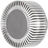 Gnosjö Konstsmide Monza 7932-310 Wandleuchte LED rund, Breite 15 cm Tiefe 10,5 cm Höhe 15 cm, 1x 5W, IP44, Aluminium 7932-310