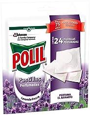 Polil Raid Pastillas Perfumadas Antipolillas Protector de ropa, Lavanda, 24 unidades