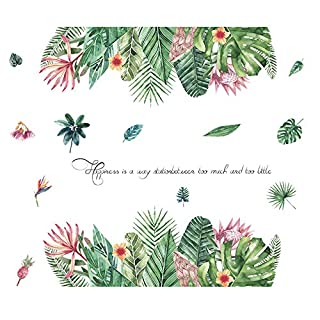 Wandaufkleber Tropische Pflanzen Fleischigen Wohnzimmer Schlafzimmer Literarischen Warmen Zimmertür Schlafsaal Einfache Nordic Wanddekoration Aufkleber