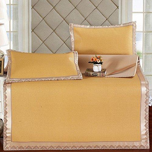 Liuyu · Sièges en rotin de Mats Trois-pièce 1.8m Bed Summer pliant 1.5m Lavable Seule l'assurance de la qualité des étudiants n'est pas de bonne qualité Essentiels de voyage Fade