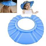 Visiera Berretto Cuffia di doccia bagno regolabile blu per bambino bambino protezione Proteggere gli occhi durante di un Shampoo