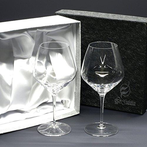 la galaica Set/Étui de 2 Coupes en Verre pour à vin ou à Eau, Collection Atelier.