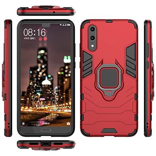 Forhouse Slim Fit Cellphone Case Huawei P20 Hülle Shock Absorption Girls Defender Drop Protection Cover Bumper Hülle for Huawei P20 - Red