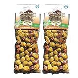griechische gemischte Oliven in Oregano-Öl vakuumverpackt 2 x 150 Gramm