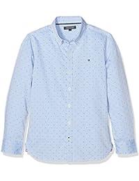 Tommy Hilfiger WW0WW17079, Camisa Para Mujer, Azul (Shirt Blue), Talla Única (talla del fabricante:10)