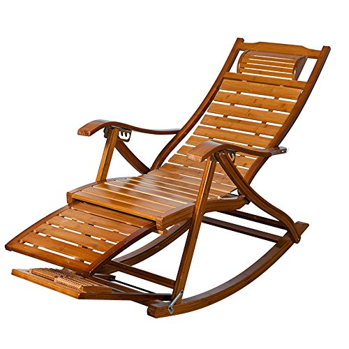 Sofa Stuhl Bambus Chaise Lounges, Sommer Verstellbare Klappstühle Sessel Alter Mann Typ S Casual Liegestühle Für Terrasse Büro Strand Freibad Garten Hof Balkon - Chaise Lounge-sessel