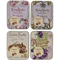 Chocolate Amatller Flors - Bombones de chocolate con leche Crocant en caja de metal - 4