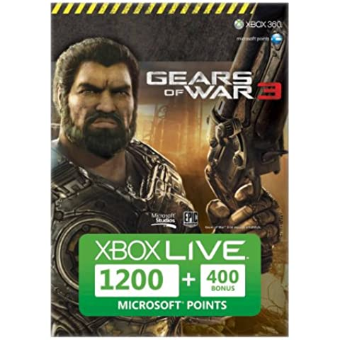 Microsoft  Xbox 360 Live 1200 Points, Gears of War 3 + 400p