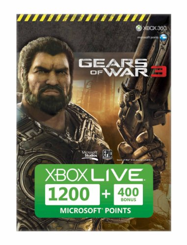 Xbox 360 - Live Points Card 1200 Gears of War 3 + 400 Points (1200 Microsoft-punkte)
