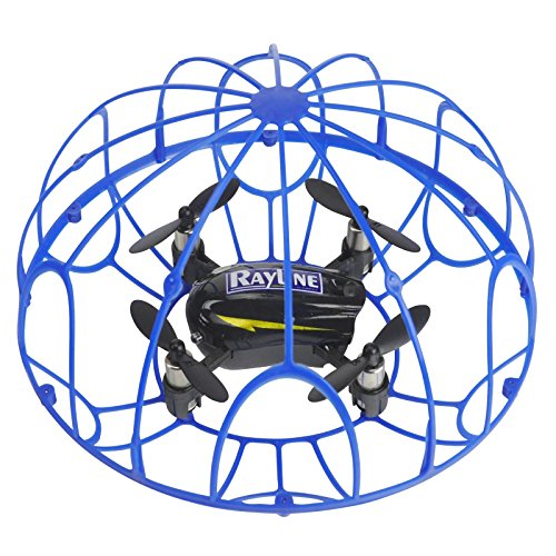 FPS RTF Bundle: Rayline RX3, Schwarz, 2.4G RC NANO Drohne Training Mini Quadrocopter, Trainingsdrohne mit Käfig, Übungsdrohne, 6 Achsen Gyro, flexibler Schutzkäfig, 3D Flips, inkl. Akku & 3xAA - 7