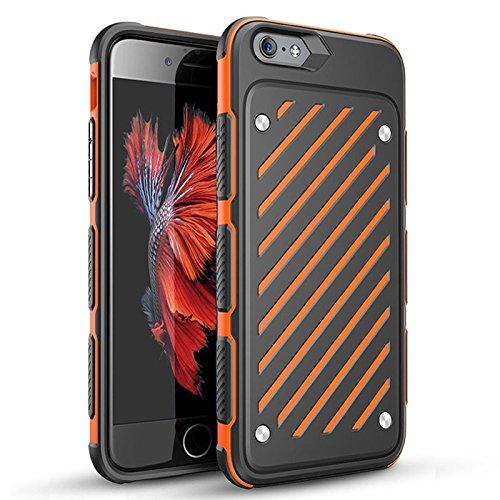 IPhone 6Plus / 6S Plus (5,5 pouces) de cas, [série épée] 2 en 1 Collision Couleurs double couche antichoc Protection complète Téléphone cellulaire Colorful Cover Case (iphone 6Plus/6sPlus, White) Orange