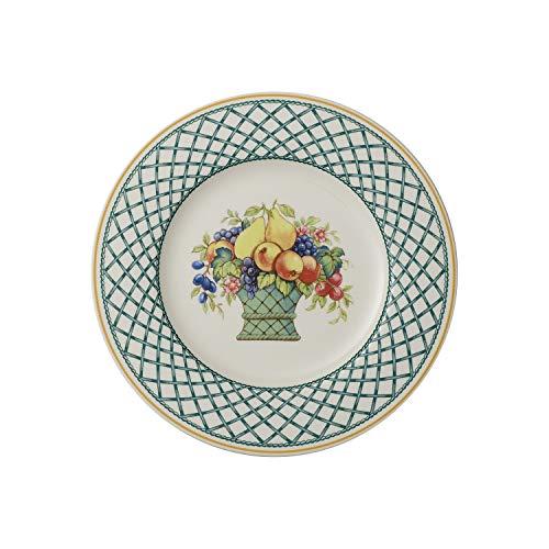 Villeroy & Boch Basket Garden Assiette pour le petit déjeuner, 21 cm, Porcelaine Premium, Blanc/Multicolore