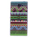 Coque Sony Xperia M2, Coffeetreehouse Housse Etui Protection Full Silicone Souple Ultra Mince Fine Slim pour Sony Xperia M2, Sony Xperia M2 Étui en TPU silicone - national Wind