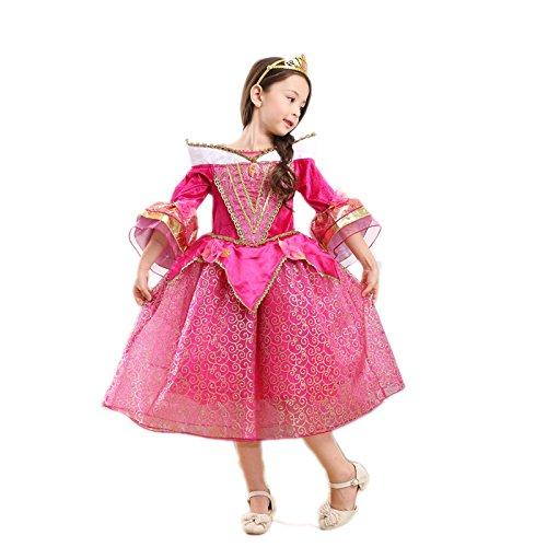 Lo mejor Bell Color Rosa Disfraz infantil brillo vestido niña Navidad verkleidung Carnaval Fiesta Halloween fijo rosa 5 años