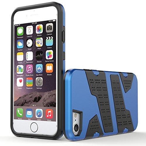 """iPhone 6s Hülle, HICASER Hybrid Shock Proof TPU Case Mesh PC Bumper Frame Handytasche Schutzhülle für iPhone 6 / 6s 4.7"""" Gold Grau"""