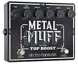 Electro Harmonix Metal Muff/Top Boost Pédale pour Guitare électrique Argent