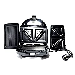 Aditya overseas Deluxe Electric Grill cum sandwich Maker - plates for Grilling and sandwich