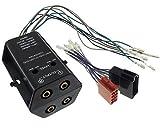 Adattatore/amplificatore a 4canali, convertitore alto livello/basso livello ISO RCA, per auto