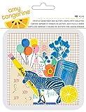 American Crafts Amy Tan Finders Keepers de troqueles 48/pkg-cardstock y Acetato Formas W/Lámina, otros, multicolor
