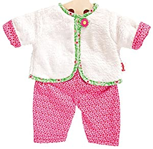 Heless 1625heless Bloomy Cozy, Chaqueta Reversible para pequeño muñeca