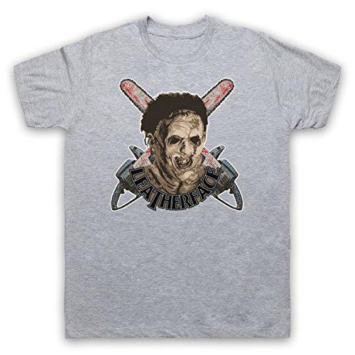 Inspiriert durch Texas Chainsaw Massacre Leatherface Unofficial Herren T-Shirt Grau