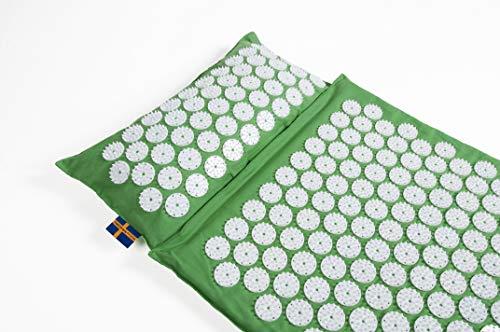 Cuscino + tappetino per agopressione thermo mysa duo in fibra ecologica | l'autentico svedese mysa ! riscaldabile | il piu' lungo | mal di schiena cervicale fibromialgia | con audio cd e tutorial