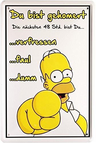 Blechschild Simpsons Homer