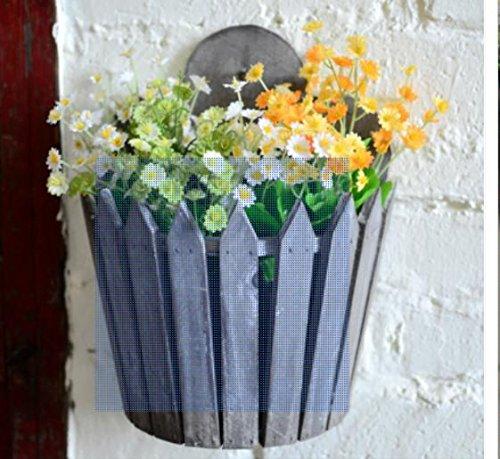 Amerikanische rustikal/Vintage Holz / / hängend Blume Korb/Shop kreative Haus/Wohnzimmer Wand Pflanzer/Flower Box Zubehör , 5 (Wand-korb Pflanzer)