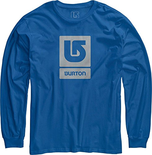 Burton Vertical Fill Logo Long Sleeve Tee Brooke Blue Brooke Blue