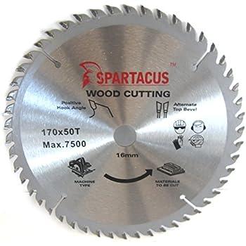 Black and decker circular saw blade 170 x 16 x 40mm amazon spartacus 170mm diameter x 50 teeth x 16mm bore wood cutting circular saw blade keyboard keysfo Images