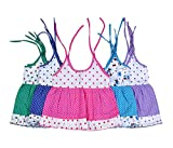 #8: Sathiyas Baby Girls Dresses (Pack of 5) (asvinf34_Multicolour_0 - 6 Months)