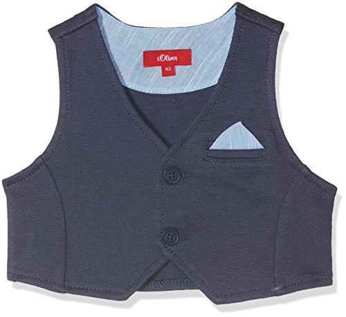 s.Oliver Baby-Jungen Weste 59.805.44.8865, Blau (Dark Blue 5816), 74 (Jungen Weste)
