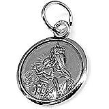 Colgante plata Ley 925m medalla Virgen Carmen 15mm. [AB1531GR] - Personalizable - GRABACIÓN INCLUIDA EN EL PRECIO