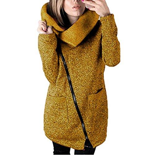 Damen Strickjacke Xinan Herbst Winter Hooded Coat Long Zipper Pullover Outwear Mantel (L, (Tank Kostüm Girl Cosplay)