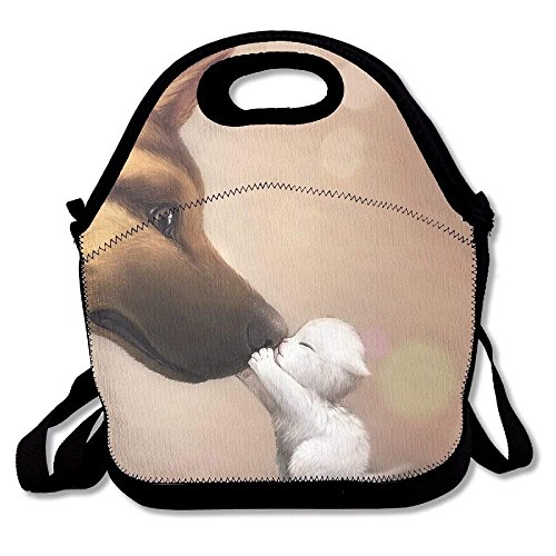 Lunch Bag, Large Lunch Bag, Adult Fresh Lunch Bag For Kids Teens, Anime Cute Dog Cat Baby Animals -