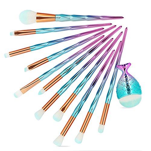 MuSheng(TM) Pinceaux -12pcs maquillage fond de teint sourcil eyeliner blush cosmétiques correcteur pinceaux (A)
