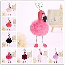 cosanter Flamingo estilo llavero niñas bolsa paquete colgante coche clave colgante, rosa (b), 25 cm