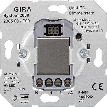 Price comparison product image GIRA Universal LED Touch Dimmer Switch for LED Lamp Type 3 100 W,  238500