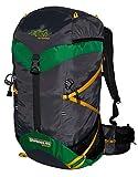 Camping senderismo al aire libre mochila Daypack 40L TASHEV distance trekking mochila con sistema de hidratación, green yellow