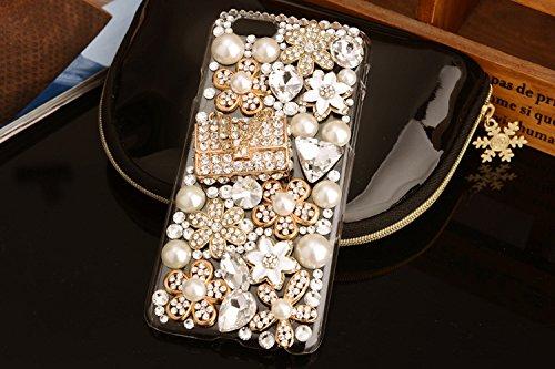 Coque iPhone 6 Plus/6s Plus , iNenk® sac plein de diamant dur PC Téléphone Shell Glitter diamant perle Mobile manchon protecteur Housse Etui Cute Mode Design luxe pour femmes-Sac Sac2