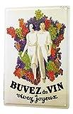 Plaque émaillée Affiche Affiches Vin France Cuisine