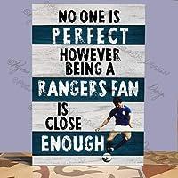 Wall Placa de Madera con diseño de Rangers F.C, no One is but be Rangers