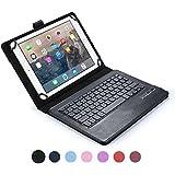 Funda tipo Folio Cooper Cases (TM) Infinite Executive para tablet de Huawei MediaPad 10 FHD, 10 Link, 10 Link+ con teclado Bluetooth en Negro (soporte incorporado, teclado QWERTY extraíble, batería recargable)
