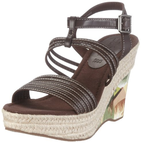 ESPRIT LISA MULTICOL WEDGE S10360, Damen, Sandalen/Fashion-Sandalen, Braun (medium brown 218), EU 41