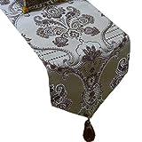 Tischdecken Dark Couchtisch Flagge Blended Blumenmuster Mode Einfache Nordic Kaffee Bett Hochzeit Hotel Bankett 30 cm * 180 cm (größe : 220cm)