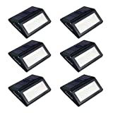 Fomatrade Pack of 6 Solar LED Light Solar Powered Wall Mount Light Garden Path Lamp Outdoor Light for Garden